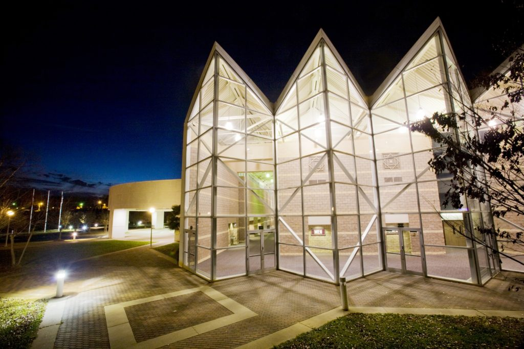 Civic Center Atrium at Night